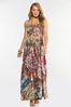 Plus Size Smocked Patchwork Maxi Dress alternate view