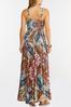 Plus Size Smocked Patchwork Maxi Dress alt view