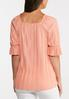 Plus Size Pleated Square Neck Top alternate view