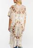 Plus Size Neutral Tie Dye Kimono alternate view