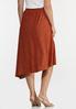 Plus Size Rust Eyelet Midi Skirt alternate view