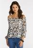 Ruffled Leopard Top alt view