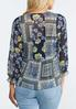 Plus Size Sheer Patchwork Top alternate view