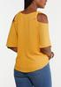 Plus Size Knotted Cold Shoulder Top alternate view