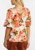 Plus Size Precious Pink Floral Top alternate view