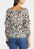 Plus Size Ruffled Leopard Top alternate view