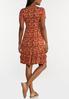 Plus Size Rust Floral Babydoll Dress alternate view