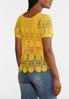 Plus Size Golden Floral Crochet Top alternate view
