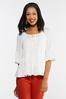 Plus Size Ivory Tiered Poet Top alternate view