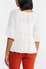 Plus Size Ivory Tiered Poet Top alt view