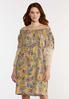 Plus Size Crochet Sleeve Swing Dress alt view