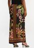 Plus Size Tropical Floral Maxi Skirt alternate view