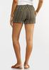 Olive Stripe Linen Shorts alternate view