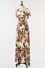 Plus Size Tropical Tie Waist Maxi Dress alternate view