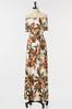 Plus Size Tropical Tie Waist Maxi Dress alt view