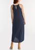 Plus Size Stretch Navy Midi Dress alternate view