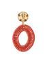Oval Thread Wrap Clip- On Earrings alternate view