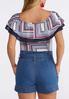 Plus Size Ruffled Americana Bodysuit alternate view