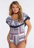 Plus Size Ruffled Americana Bodysuit alt view