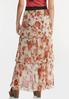 Plus Size Floral Tiered Mesh Maxi Skirt alternate view
