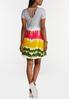 Plus Size Tie Dye Strappy Swing Dress alternate view
