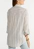 Plus Size Stripe Linen Button Down Shirt alternate view