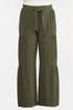 Plus Size Tiered Olive Pants alternate view