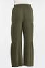 Plus Size Tiered Olive Pants alt view