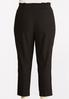 Plus Size Belted Bengaline Pants alternate view