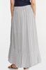 Plus Size Breezy Striped Maxi Skirt alt view