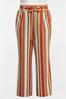 Plus Size Striped Paperbag Palazzo Pants alternate view