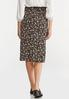 Plus Size Floral Garden Tie Waist Skirt alternate view