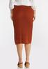 Plus Size Rust Sweater Skirt alternate view