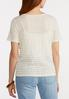 Plus Size Ribbed Linen Top alternate view