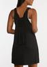 Plus Size Solid Black Vest alternate view