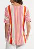 Plus Size Citrus Stripe High- Low Top alternate view