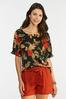 Floral Square Neck Top alternate view