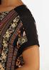 Crochet Shoulder Mixed Print Top alt view