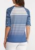 Plus Size Blue Baseball Tee alternate view