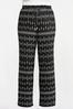 Plus Size Contrast Print Palazzo Pants alternate view