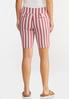 Chili Stripe Bermuda Shorts alternate view