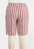Plus Size Chili Stripe Bermuda Shorts alternate view