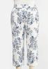 Plus Size Textured Floral Pants alternate view