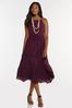 Plus Size Purple Smocked Dress alternate view