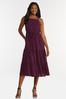 Plus Size Purple Smocked Dress alt view