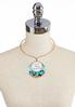 Inspirational Turquoise Pendant Necklace alternate view