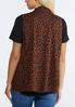 Plus Size Leopard Print Vest alternate view