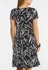 Plus Size Embellished Zebra Print Dress alternate view