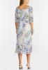 Plus Size Mesh Watercolor Midi Dress alternate view