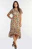 Plus Size Mesh Floral High- Low Dress alternate view